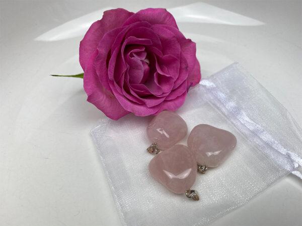 Edelsteen hangertje rozenkwarts